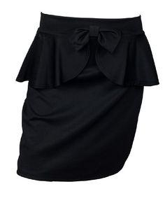 eVogues Plus Size Peplum Mini Skirt With Bow Detail Black - 1X eVogues Apparel http://www.amazon.com/dp/B00GY27QV4/ref=cm_sw_r_pi_dp_wgpPtb04ZNE63PHX