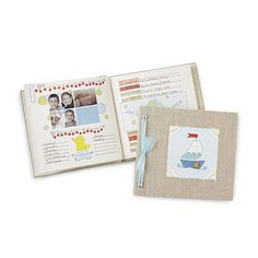 Look what I found at UncommonGoods: row your boat baby memory book... for $56 #uncommongoods