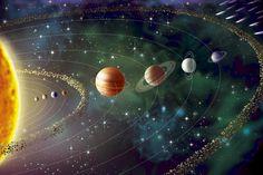 Πόσο μεγάλο είναι το ηλιακό μας σύστημα; Cosmos, Solar System Planets, Our Solar System, Planetary System, Solar System Wallpaper, Asteroid Belt, France Culture, Planets Wallpaper, Solar Installation