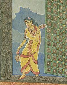 Silk Painting, Figure Painting, Kauai, Saree Painting Designs, Mughal Miniature Paintings, Lord Hanuman Wallpapers, Pagan Gods, Madhubani Painting, Indian Art Paintings