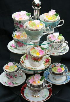 Cups & Cakes  {LUV all the cup-&-saucers}