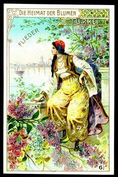 Turkish Girl, Wesenberg's Coffee (Berlin) The Home of Flowers 1-6, 1900.