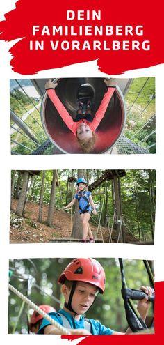 Der Erlebnisberg am Golm im Montafon versorgt die ganze Familie mit Spaß und Action! Klettert hoch hinaus im Waldseilpark, geht gemeinsam wandern oder entdeckt die Natur. Die Berge in Österreich verzaubern Groß und Klein - garantiert auch im Herbst! #golmat Riding Helmets, Hiking Trails, Day Trips, Ski, Family Vacations, Recovery