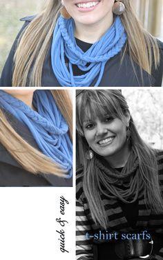 t-shirt scarve tutorial - different kind