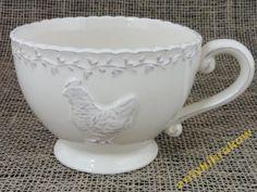 Filiżanka ceramiczna z kurą duża