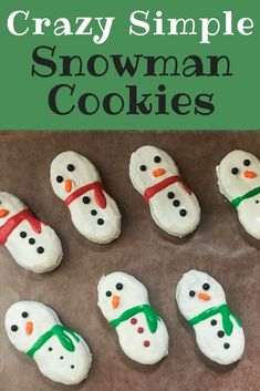 fun christmas cookies Weihnachtspltzchen If you are looking for easy holiday cookies that anyone can do, these Snowman Cookies are perfect! Find the fun in baking again with these simple Christmas cookies! Easy Holiday Cookies, Holiday Cookie Recipes, Easy Cookie Recipes, Holiday Treats, Christmas Cookies, Dessert Recipes, Easy Recipes, Christmas Treats, Christmas Recipes