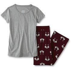 Joe Boxer Junior's Pajama Top & Pants - Fox - Sears (£13) ❤ liked on Polyvore featuring intimates, pyjama tops, short boxer, pajama tops and pj tops