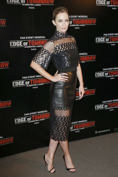 "Emily Blunt in David Koma (2014 Paris premiere of ""Edge Of Tomorrow"")"