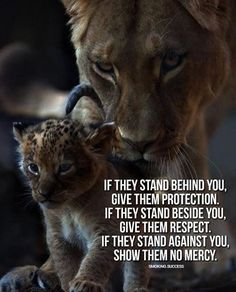 If they stand behind you give them protection..