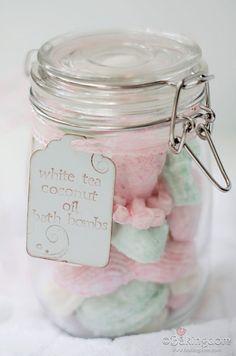 White Tea Coconut Oil Bath Bomb by ©Bakingdom