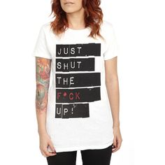 Girls T Shirts: Pop Culture Graphic Tees | Hot Topic ($23) ❤ liked on Polyvore featuring shirts, tops, t-shirts and shoes