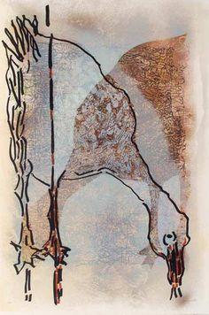 """Jean Paul Riopelle, Affiche avant la lettre no 219, 1983, Lithographie, 35"""" x 24"""""""