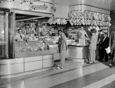 "New York circa 1946. ""Garcia Grande newsstand."""