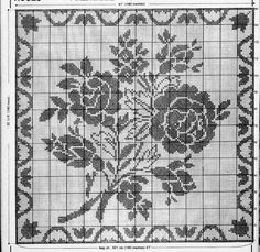 Kira scheme crochet: Scheme crochet no. Cross Stitch Cushion, Dmc Cross Stitch, Cross Stitch Embroidery, Cross Stitching, Cross Stitch Patterns, Filet Crochet Charts, Crochet Diagram, Crochet Motif, Crochet Designs