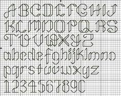alphabet back stitch patterns Cross Stitch Alphabet Patterns, Embroidery Alphabet, Cross Stitch Letters, Small Cross Stitch, Cross Stitch Borders, Cross Stitch Charts, Cross Stitch Designs, Cross Stitching, Cross Stitch Embroidery