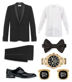 """""""etiqueta rigurosa caballero"""" by vanyflores on Polyvore featuring Tom Ford, Versace, Gucci, Michael Kors, men's fashion y menswear"""