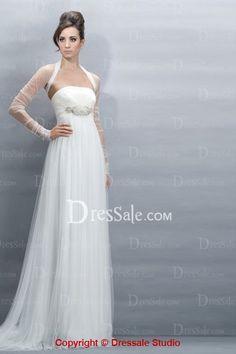 2831e816b3d Distinctive Design Empire Plus Size Wedding Dress with Sleeves Plus Size  Wedding Dresses With Sleeves