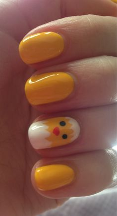Chick Easter nails!  I doubt that I will take the time to do this but maybe..... my students would get a kick out of it.