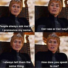 Cersei being herself