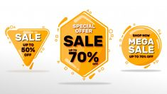 Sale banners set Premium Vector | Premium Vector #Freepik #vector #banner Ios Ui, Bag Mockup, Brand Book, Sale Banner, Vector Shapes, Ui Kit, Ui Design, Graphic Design, Keynote Template