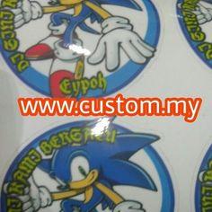 Sticker product   kiss cut   harga serendah RM0.01 per...