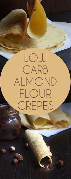 These wonderful keto crepes stay soft and flexible, even after they cool. A delicious low carb sugar-free recipe. Gluten-free. via @dreamaboutfood
