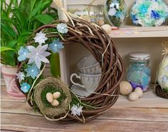 How To Make a Watercolour Easter Wreath   the littlecraftybugs company - Watercolour Spring