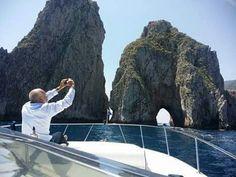 Wonderful day in Capri with Faraglioni rocks by Tornado 38 of Amalfi Charter.  www.amalficharter.it