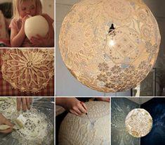 How to DIY Lacey Doily Lamp | www.FabArtDIY.com LIKE Us on Facebook ==> https://www.facebook.com/FabArtDIY
