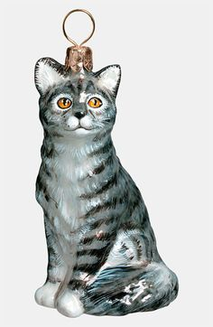 Joy to the World Collectibles 'American Shorthair Cat' Ornament available at #Nordstrom
