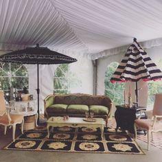 Bella Villa Vintage rentals and Emilys Umbrellas take it outdoors for events!