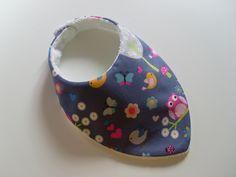 Bavoir bandana anti bavouille de bébé, motif Chouettes : Mode Bébé par zekoualamachine