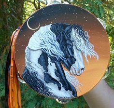 Gypsy Horse Tambourine, by my friend, Jennifer MacNeill Traylor Animal Kingdom, Amazing Art, Horse Painting, Beautiful Creatures, Beautiful Creature, Artsy, Fairy Tales, Art Inspiration, Halloween Art