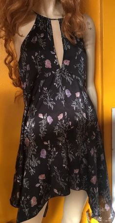 Free People Printed Cascades Floral Slip Dress NWOT Black Combo Sz Small in Clothing, Shoes & Accessories, Women's Clothing, Dresses | eBay