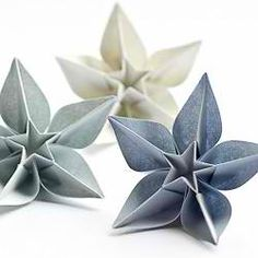 Origami flowers in wedding colors