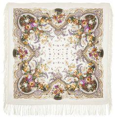 "Russian Pavlovsky Posad shawl ""Pleasure"" ""Отрада"""
