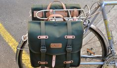 Leather Bicycle, Bicycle Bag, Bike Panniers, Urban Cycling, Cargo Bike, Hippie Life, Bike Life, Survival Skills, Velo Route