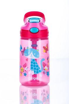 Contigo Kinder Wasserflasche Gizmo Flip Autospout mit Strohhalm, BPA-freie Trinkflasche, auslaufsicher, ideal für Schule und Sport, 420 ml: Amazon.de: Sport & Freizeit