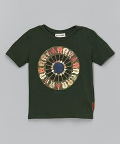 Another great find on #zulily! Pine Grove Guitar Circle Tee - Toddler & Boys by Ben Sherman #zulilyfinds