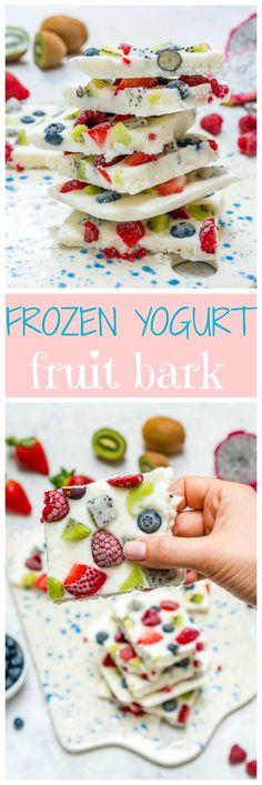 This Creative Fro-Yo Fruit Bark is an Awesome Clean Eating Treat! - Clean Food Crush