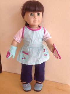 American Girl Doll Baking Outfit and Supplies