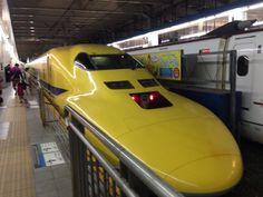 """ドクターイエロー 923系 博多駅 / Shinkansen 923-series """"Dr. Yellow"""" Hakata Sta."""