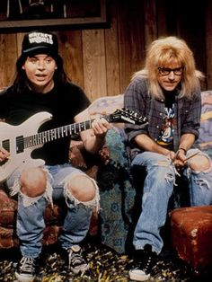 wayne's world, wayne's world!   Yes I'm 37 years old and I STILL love this movie, and quote from it often. :)