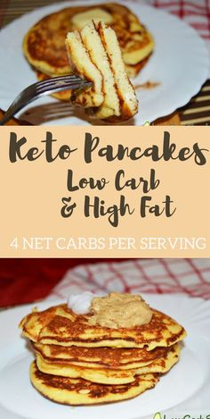 The best keto pancakes made with coconut flour. Super easy and delicious.