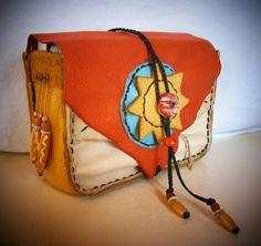 DEERSKIN TAROT BAG Envelope style Journal Bag Pouch, Medicine Bag, Spirit Pouch