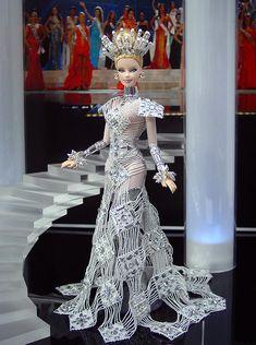 Looks like an ice queen. Ninimomo Miss Nova Scotia 2011 ooak barbie