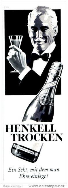 Original-Werbung/ Anzeige 1956 - HENKELL TROCKEN SEKT - ca. 75 x 220 mm