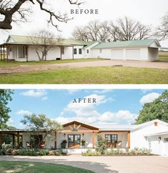 Best House Exterior Renovations By Joanna Gaines; Here are the best before and a… Best House Exterior Renovations By Joanna Gaines; Here are the best. Joanna Gaines, Ranch Exterior, Exterior Remodel, Cafe Exterior, Exterior Houses, Stucco Exterior, Cottage Exterior, Reforma Exterior, Stommel Haus