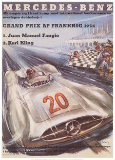 Auto Loan Racing on Vintage Mercedes Benz Auto Racing Advertisement Poster   Art Garden