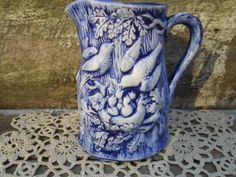 Bird Pitcher - Blue Bird - Pottery - Pitcher - Stoneware - Serving by COTTONCREEKCOTTAGE for $22.99